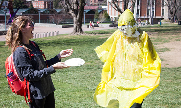 Professors get pied to support deaf kids