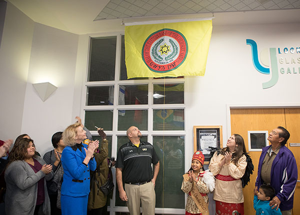 Eastern Band of the Cherokee flag installed in Plemmons Student Union
