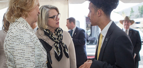 Campus leaders, students react to Margaret Spellings visit
